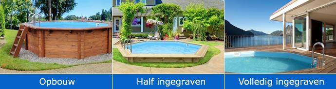 Houten zwembaden rechthoekig harmo pool for Inbouw zwembad compleet
