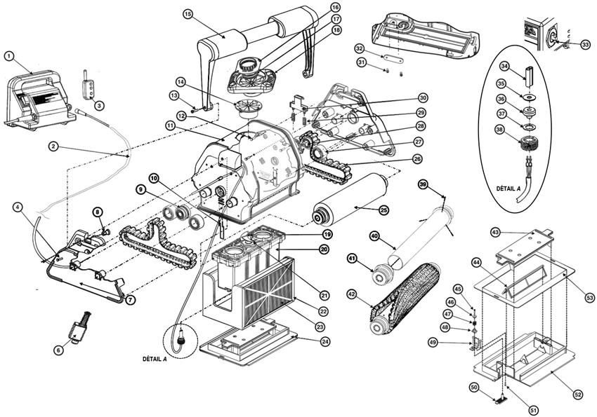 hayward elektrische robots onderdelen vervangonderdelen. Black Bedroom Furniture Sets. Home Design Ideas