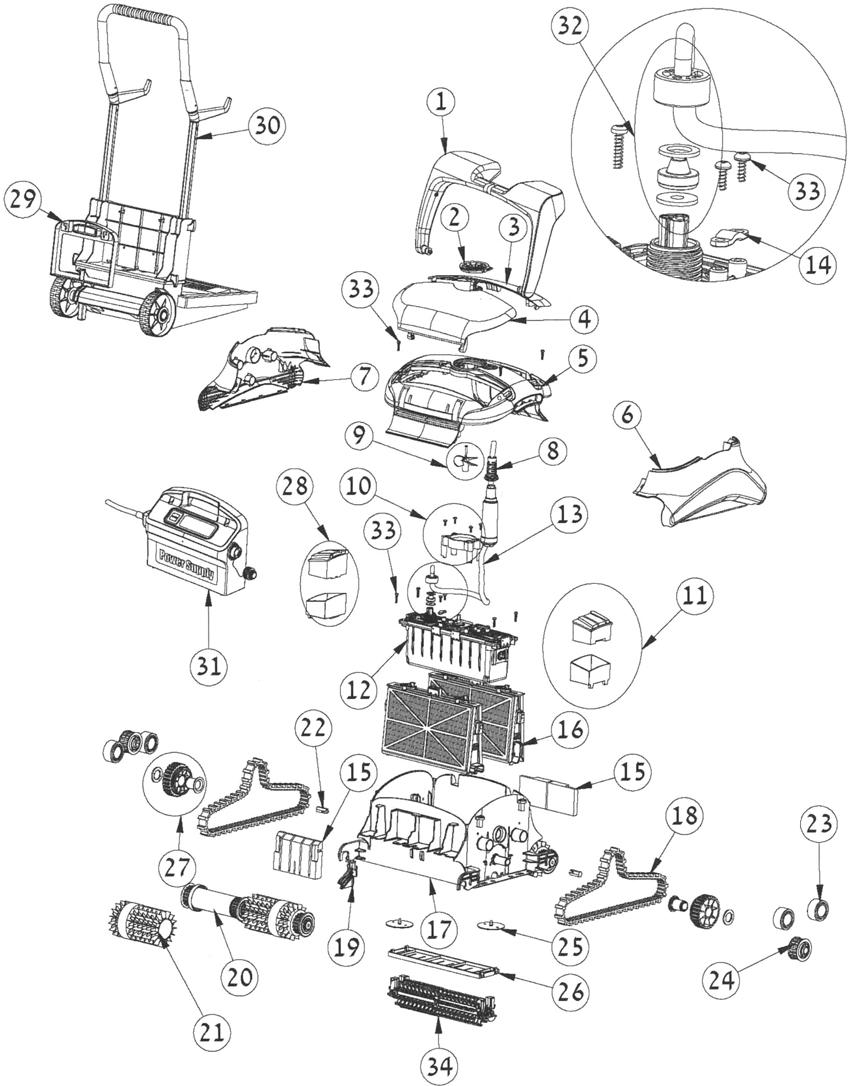 astral elektrische robots onderdelen vervangonderdelen spare parts. Black Bedroom Furniture Sets. Home Design Ideas