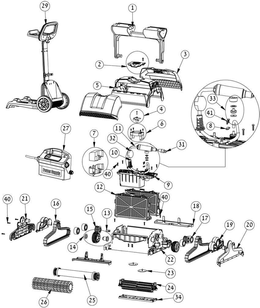 Maytronics Elektrische Robots Onderdelen