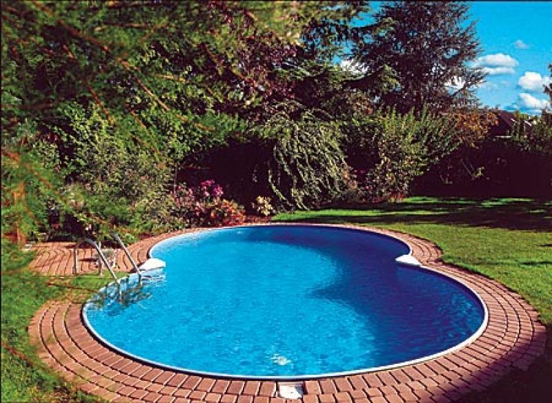 Zwembad 150 diep fauteuil 2017 - Witte pool liner ...