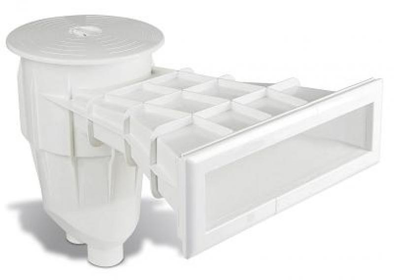 Design skimmer waterniveau zwembad aqua for Skimmer piscina