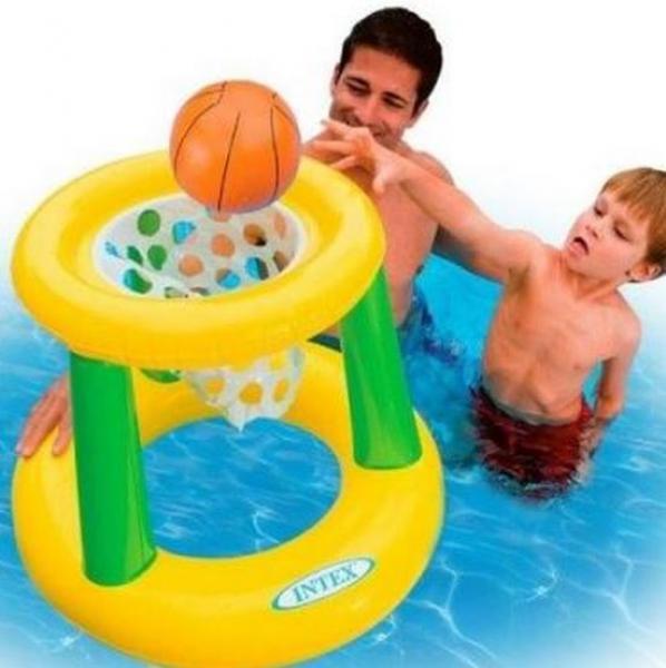 Basketbalspel drijvend intex 58504np for Zwembad spel