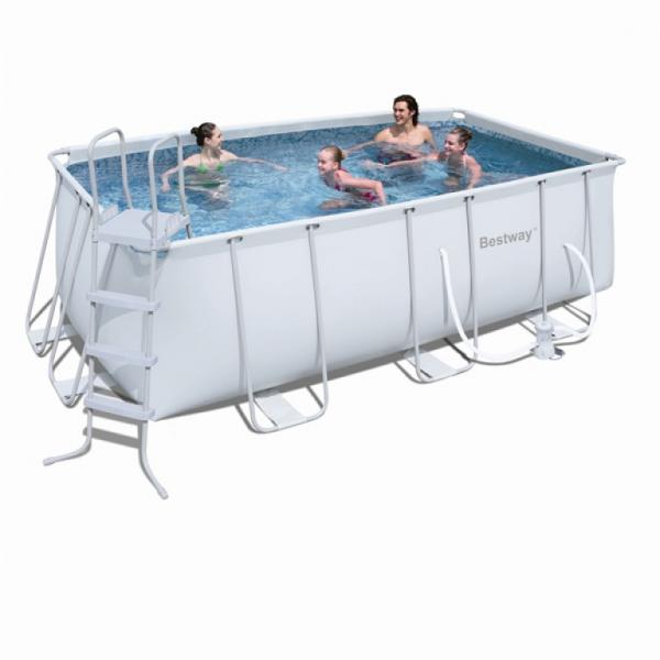 bestway power steel rectangular frame pool bestway. Black Bedroom Furniture Sets. Home Design Ideas