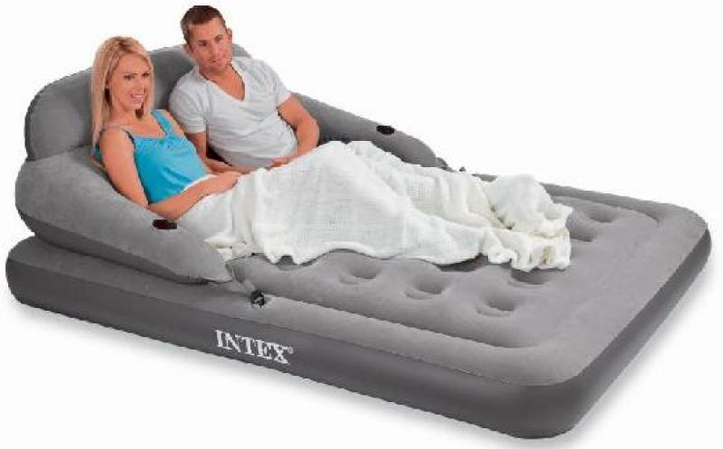 Intex convertible lounge queen size airbed 68916 ebay - Matelas gonflable ez bed ...