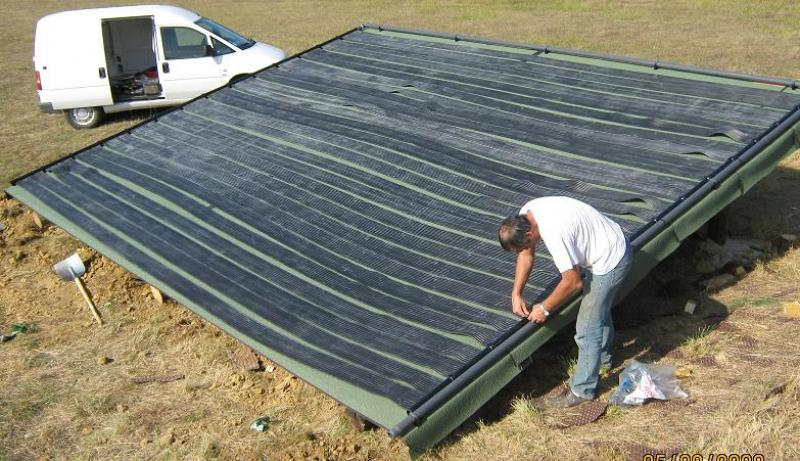 Zonnepanelen zwembad verwarming epdm harmo pool for Chauffage solaire piscine compatible intex