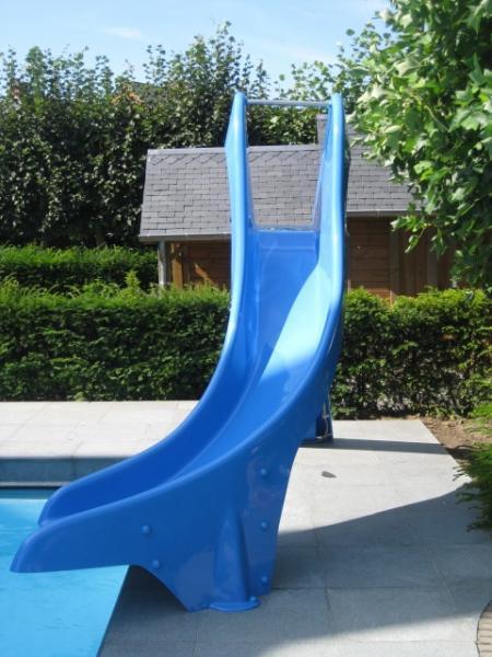 Glijbaan zwembad: 1m50 met curve naar rechts