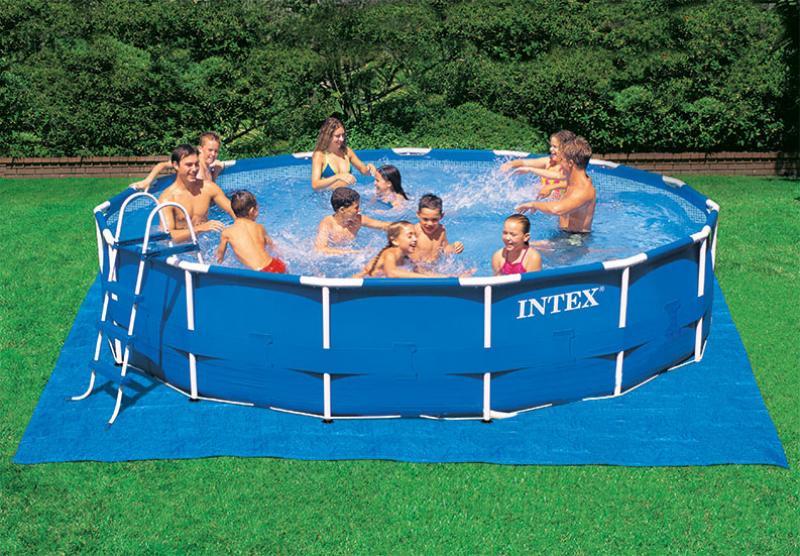 Intex grondzeil bescherming zwembad liner 472cm x 472cm for Verwarming intex zwembad