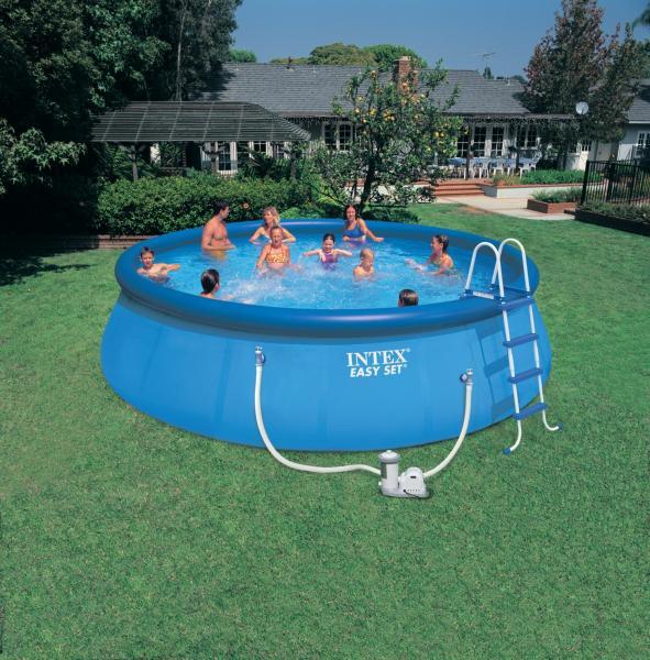 Intex easy set opblaasbaar zwembad intex for Zwembad intex