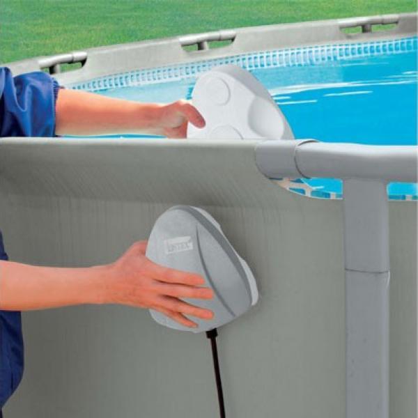 Kit clairage magn tique intex led sans per age piscine - Eclairage piscine sans fil ...