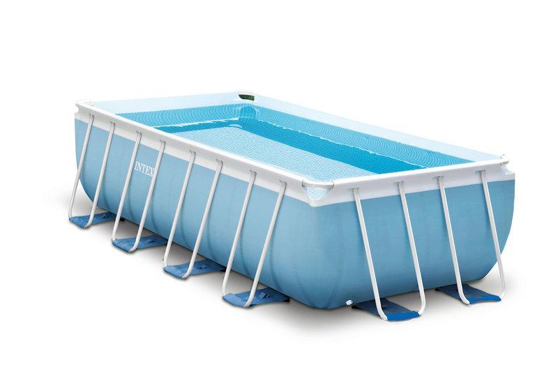 Intex prism frame rechthoekig zwembad met alle toebehoren for Opzet zwembad rechthoek