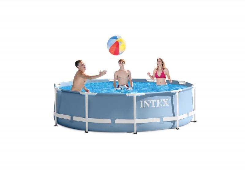 Intex prism frame rond zwembad intex - Rond het zwembad ...