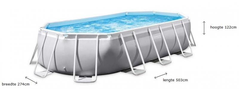 Intex Prism Frame zwembad 5,03m x 2,74m x 1,22m