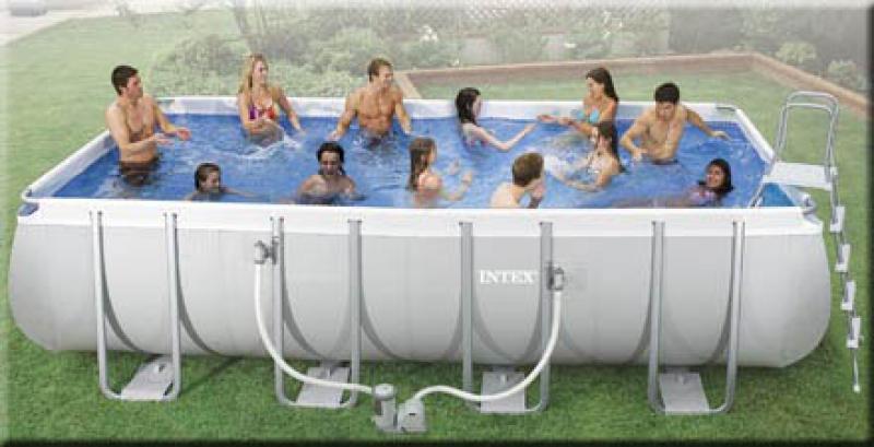 Intex ultra frame rechthoekig intex for Zwembad met frame