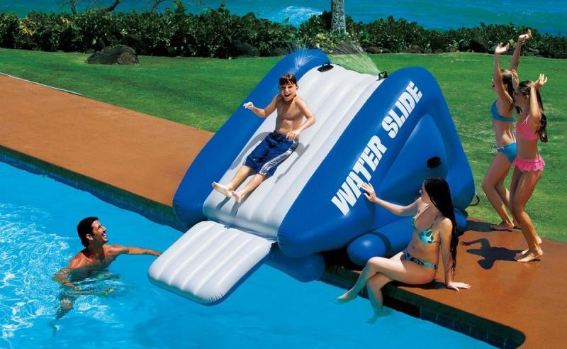 Intex waterglijbaan intex 58849np for Verwarming intex zwembad