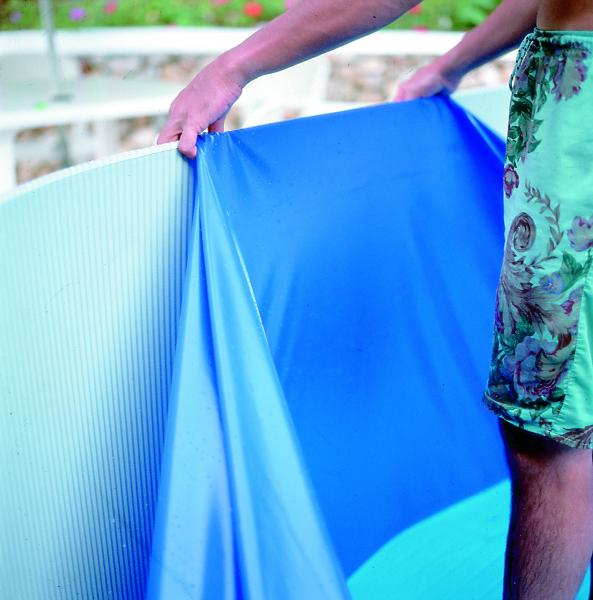 Liner blauw v profiel 0 40 mm rond 300 x 120 cm gre for Liner piscine gre ronde