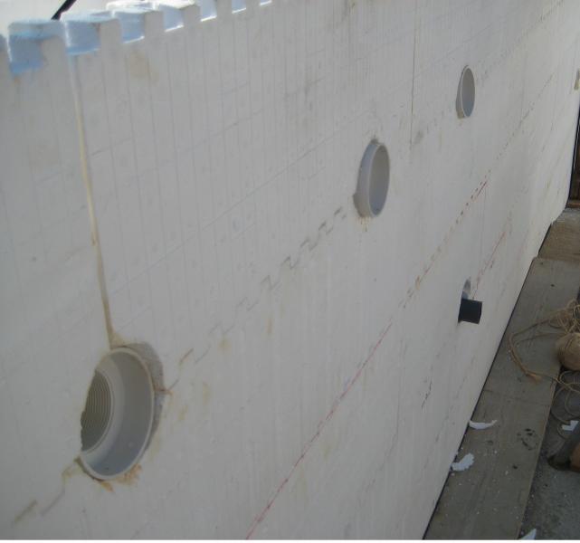 Polystyreen blokken muur zwembad o t harmo pool - Muur zwembad ...