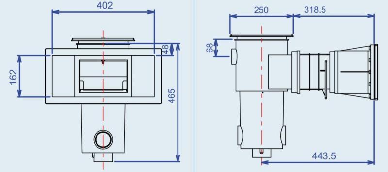 skimmer voor zwemvijvers zwart procopi. Black Bedroom Furniture Sets. Home Design Ideas