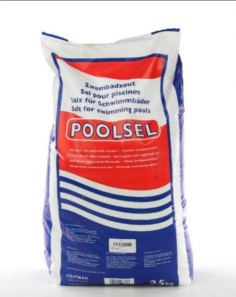 Zwembad zout hoeveelheid