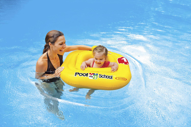 Intex baby drijfband deluxe intex 56587eu - Rond het zwembad ...