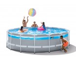 4.88m x 1.22m Clearview Prism Frame Premium pool set (Met filterpomp, ladder, grondkleed,, Cover)