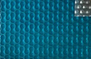 Bubbelzeil Blauw-Zilver
